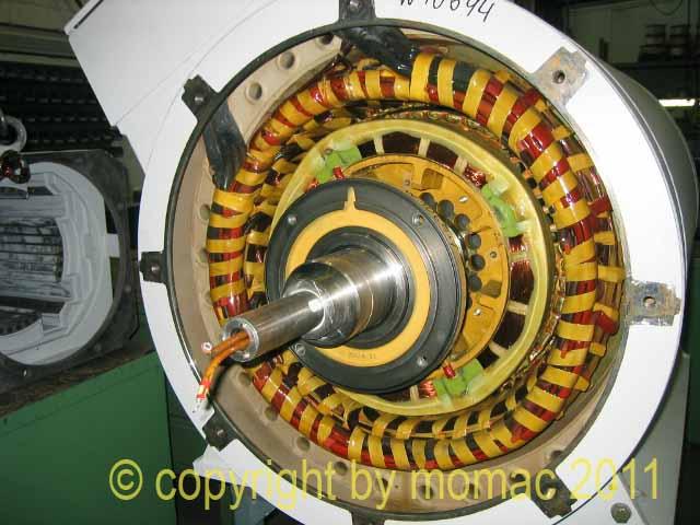 Service, Wartung und Instandsetzung von Windgeneratoren aller Hersteller, hier Weier 850 kw Generatoren