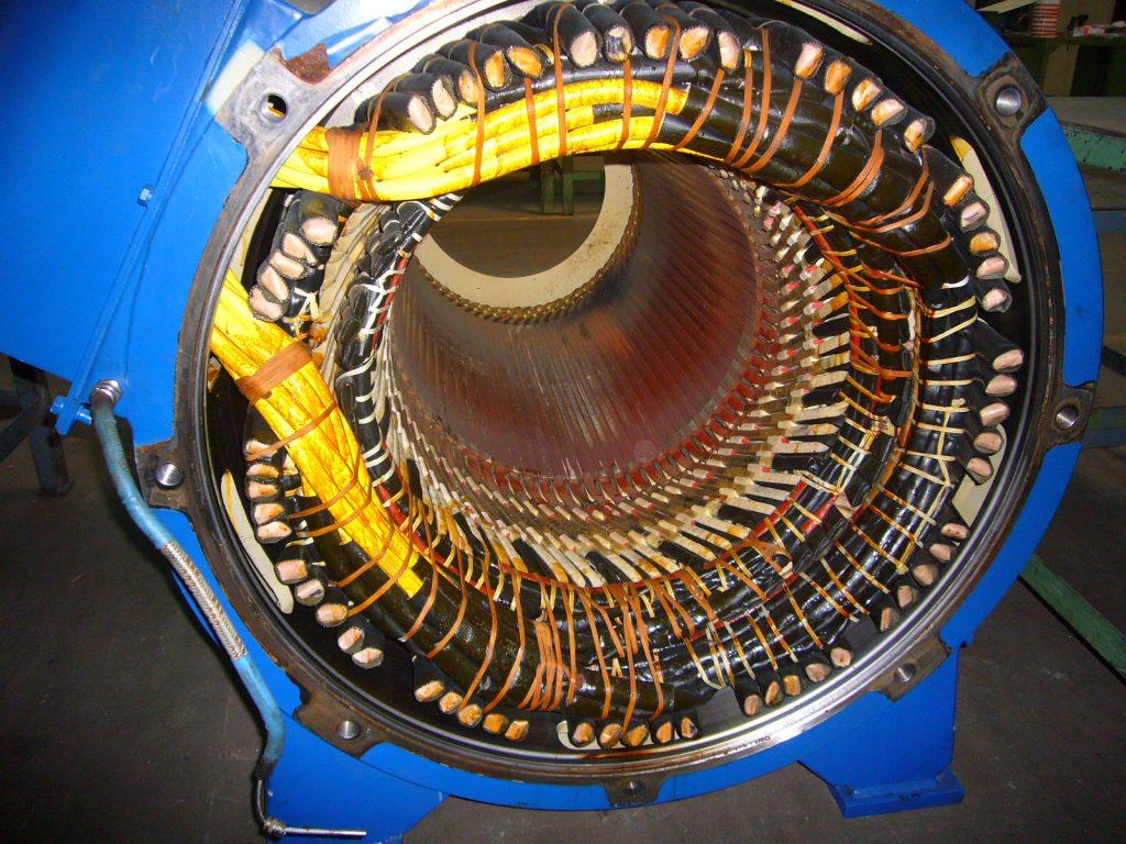 Reparierter Wicklungsschaden am einem ABB Generator aus einer Windenergieanlage (WEA)