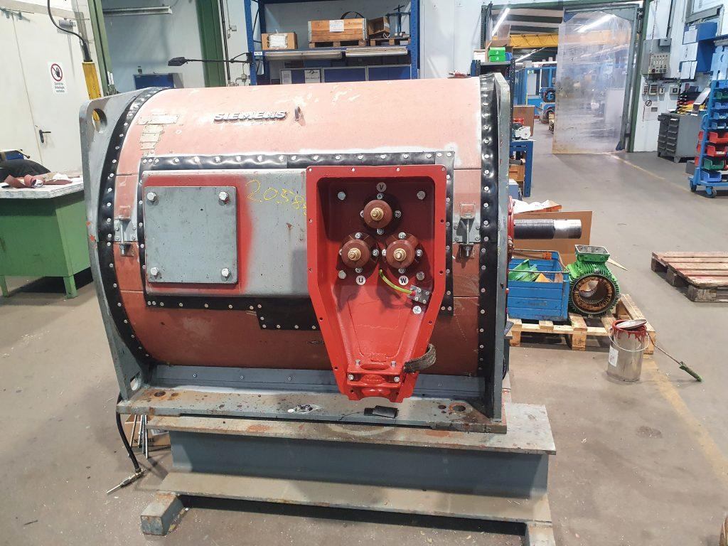 Revision Siemens Mittelspannungsmaschine mit 315 kW Leistung