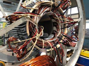 Neuwicklung von Elektromotoren und Generatoren - hier Runddrahtwicklung